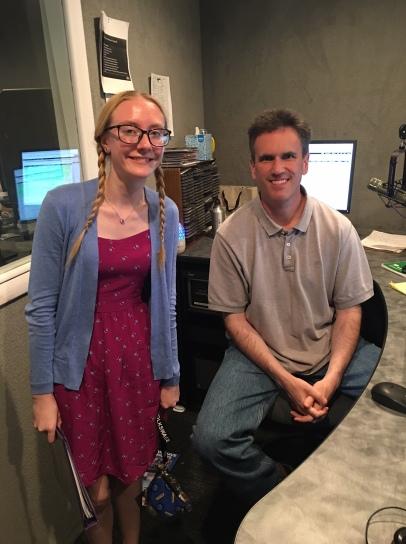 Dairy Princess, Carlee with John Lawrence at Adirondack Broadcasting