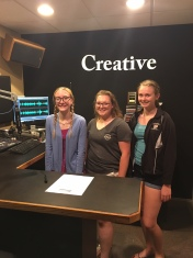 Carlee, Lauren and Hannah at Regional Radio Group - PSA