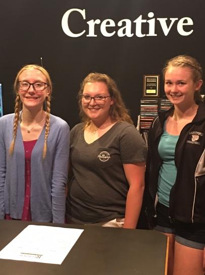 Carlee, Lauren, and Hannah at Regional Radio Group